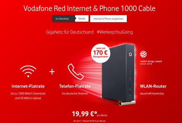 Vodafone Kabelanschluss