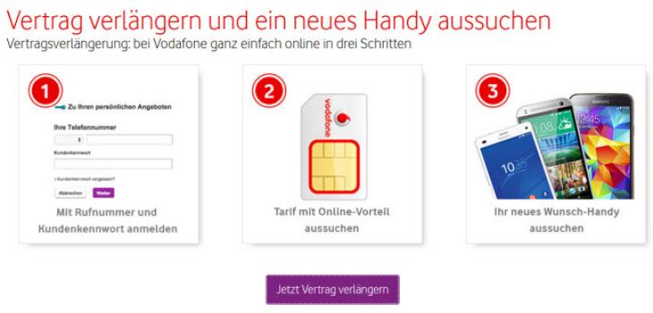Vodafone Handyvertrag verlängern